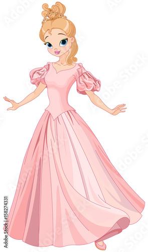 Deurstickers Sprookjeswereld Beautiful Fairytale Princess