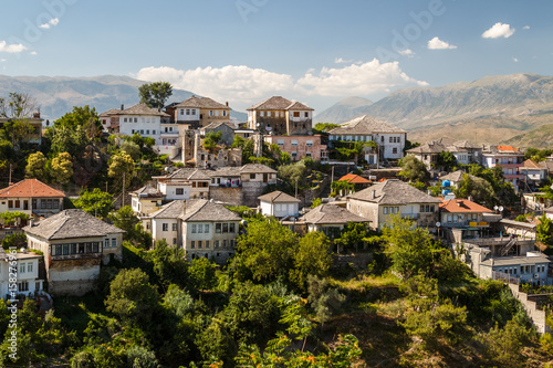 A view to the old city of Gjirokaster, UNESCO heritage, Albania - 158276961