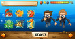 Game template with divers and fish