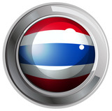 Flag of Thailand on round badge