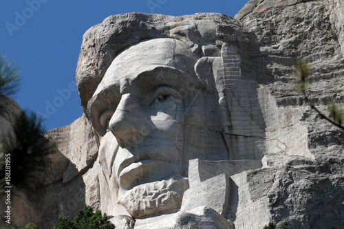 Poster Closeup of Abraham Lincoln's Face on Mount Rushmore