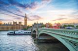Fototapeta Big Ben - Westminster Brücke und Big Ben © Simon