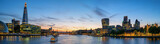 Nachtpanorama von der Themse