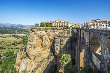 Puente Nuevo (New Bridge) over the El Tajo gorge of the river Guadalevin in Ronda