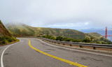 Panoramic route on the hills of Golden Gate National Recreation area in San Francisco - SAN FRANCISCO - CALIFORNIA - APRIL 18, 2017