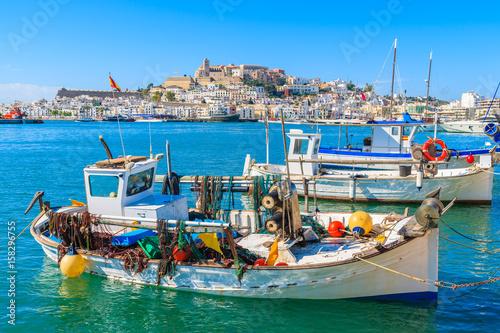 Aluminium Fishing boats in Ibiza (Eivissa) port on Ibiza island, Spain