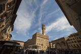 Italia,Toscana,Firenze, Palazzo Vecchio e piazza della Signoria.