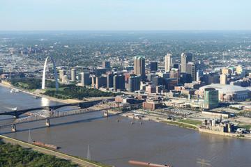 Aerial view of Saint Louis Missouri, USA