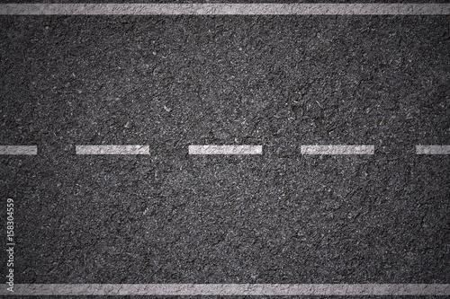 Foto Murales white lines on asphalt background texture