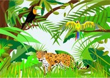 Jungle life vector illustration