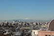 tokyo city in morning time with far side fuji san