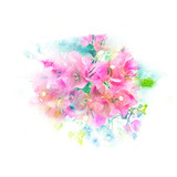 Flower watercolor illustration. - 158340575