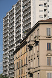 Milan (Italy): buildings in via Francesco Ferrucci