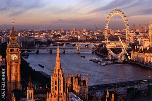 ABENDPANORAMA LONDON