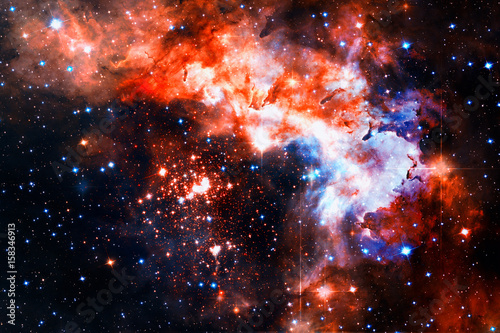Colorful galaxy in outer space.