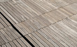Wooden floor of a floating dock.