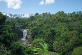 View of Tegenungan waterfall, it is one of the many tourist places and destination in Bali, Indonesia. About 5 km southeast from Ubud.