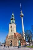 Marienkirche, Fernsehturm und Lutherdenkmal