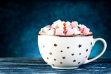 Cup cocoa with marshmallows