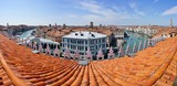 Landscape view over the red roofs of Venice, Italy