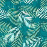 Fashion seamless vector pattern. Tropical leaf. Hawai. Fabric. Summer time - 158388963