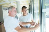 Fototapeta Apprentice learning to measure windows