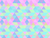 Fototapety Holographic seamless pattern background wallpaper, abstract geometric illustration in pastels candy colors shades: blue, pink, yellow, liliac, green.