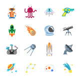 sixteen stylish space icons