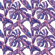 Cotton fabric Colorful seamless vector tropical pattern