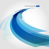 Fototapety Abstract vector background element in blue and white colors perspective