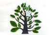 A beautiful fantasy symbolic tree with birdhouse Symbol of peace and family.