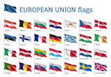 Set of waving flags ...