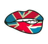 Fototapety Lips British flag