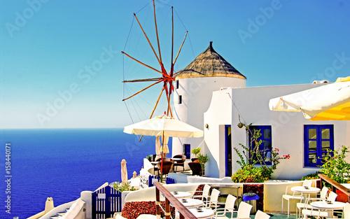 Poster Yunan Adaları; Santorini