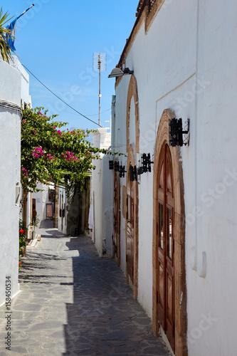 Street in Lindos city, Rhodos island, Greece