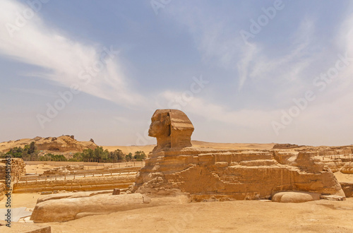view on Great Sphinx at Giza Poster