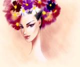Beautiful woman. Fashion illustration