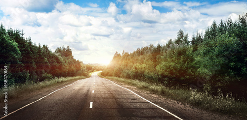Rural road landscape Poster