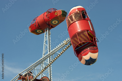 Aluminium Amusementspark Vintage bomber swing at funfair