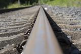 Eisenbahnschiene Nahaufnahme geradlinig