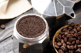 closeup coffee ground - 158482175