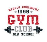 Gym club emblem