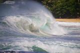 Waves at Tunnels Beach on the Hawaiian Island of Kauai