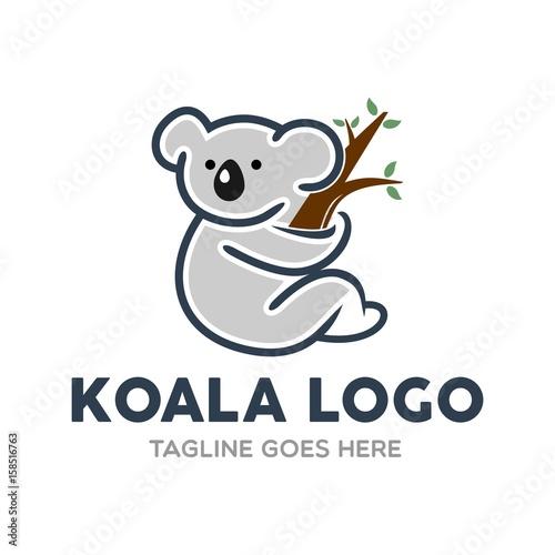 Unique Koala Logo Mascot Character Template | Buy Photos | AP Images ...