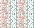 Materiał do szycia seamless  flower  pattern with vertical stripes. light vector background  for printing on textiles, clothes,  paper, wallpaper
