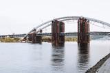 Podilsko-Voskresenskyi bridge in Kyiv