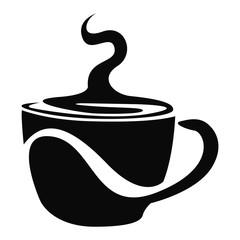 Isolated coffee mug logo