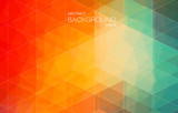 Red and Green bright color background with triangle shapes for web design