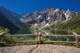 Tatra mountains and Eye of the Sea in Poland - 158529592