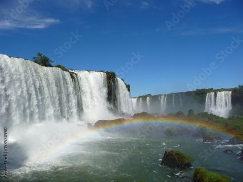 Big waterfall, rainbown - 158530960